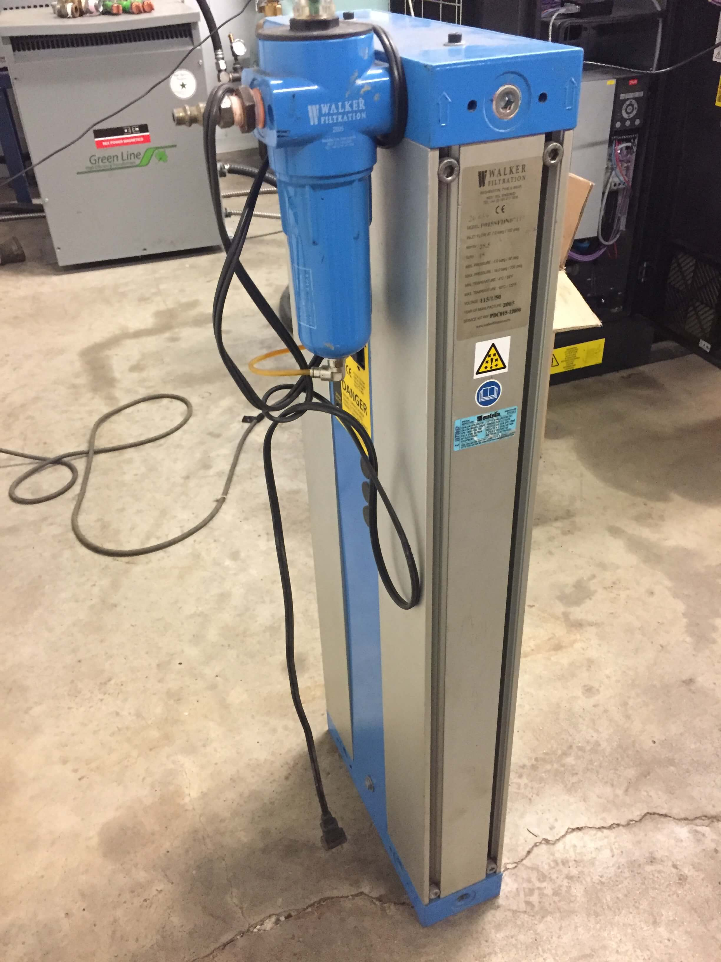Walker Filtration Desiccant Air Dryer 15 CFM (P015SFDN07115)